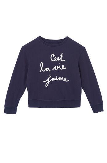 La Vie Embroidered Sweatshirt