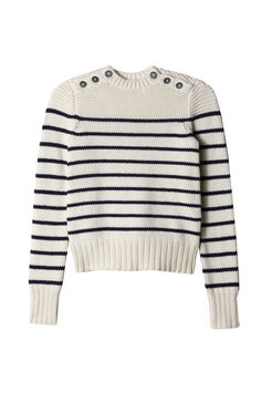 La Vie Cotton Stripe Pullover
