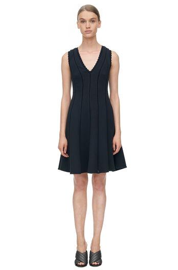 Sleeveless Diamond Texture Dress