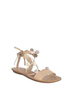 Loeffler Randall Saskia Pom Pom Lace Up Sandal