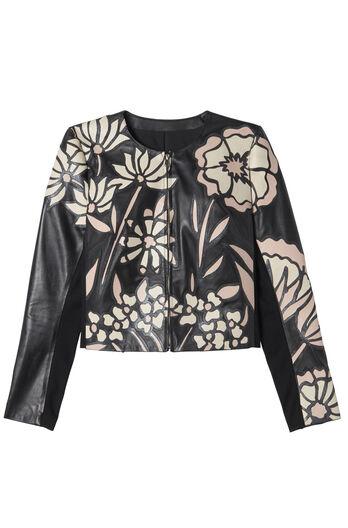 Applique Leather Jacket