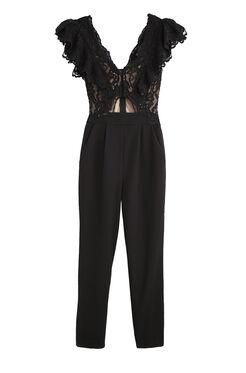 Lace Suiting Jumpsuit