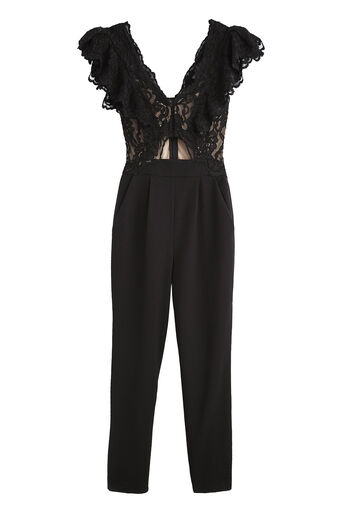 Lace Suiting Jumpsuit