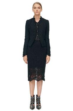 Boucle Tweed Jacket - Black