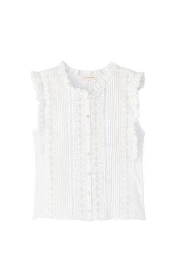 Voile & Lace Top