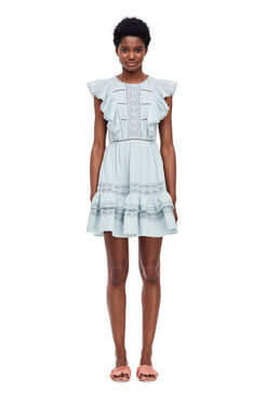 Cotton Gauze Dress - Sea Spray