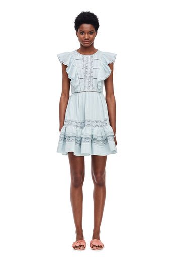 Cotton Gauze Dress - Sea Spray