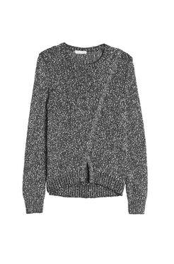 Dot Knit Crossover Pullover