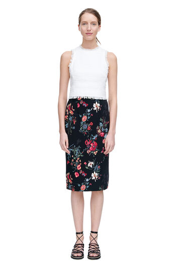 Meadow Floral Pencil Skirt