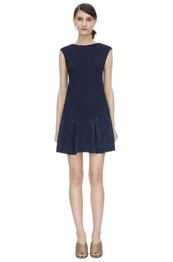 Sleeveless Knit Pique Dress - Navy