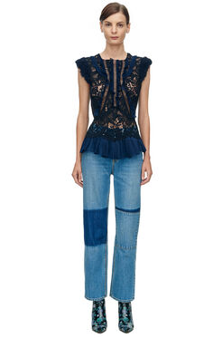 La Vie Anais Denim Jean - Patch Wash