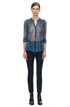 Long Sleeve Snake Print Top - Bluemarine
