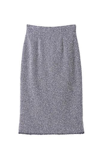 Stretch Tweed Skirt