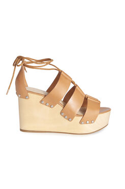 Loefller Randall Ines Gladiator Wedge Sandal - Light Cuoio