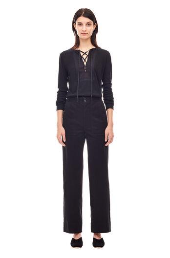 Textured Jersey Top - Black