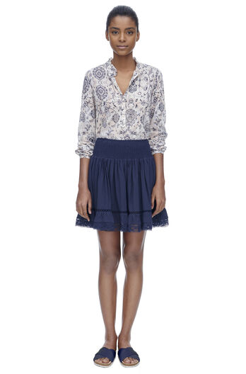 Gauze Ruched Skirt