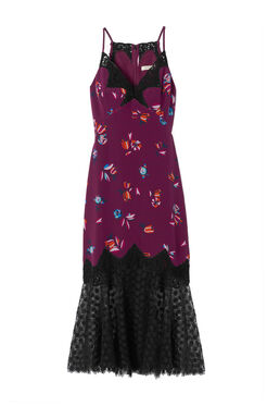 Bellflower Print Slip Dress