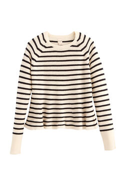 La Vie Striped Wool Pullover