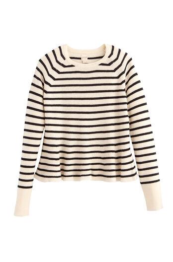 La Vie Striped Wool Pullover