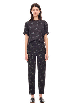 La Vie Floral Odette Pant - Washed Black