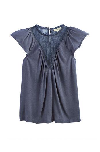 Sleeveless Lace Jersey Top