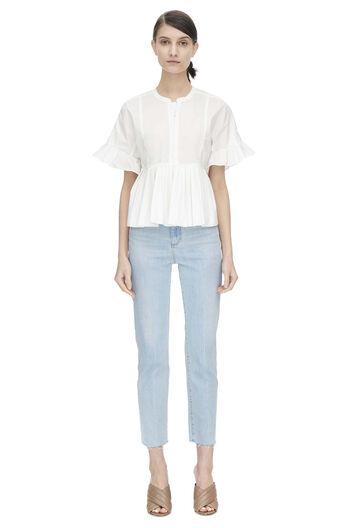 Short Sleeve Cotton Poplin Top