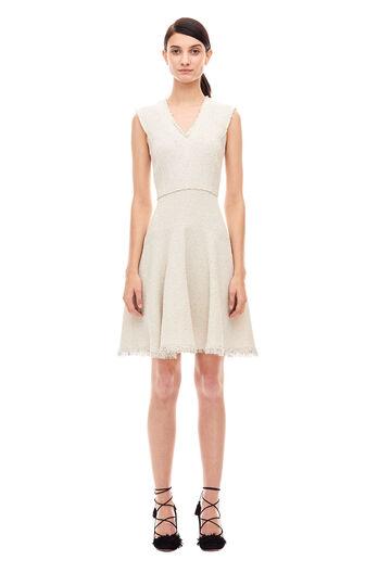 Stretch Tweed Dress - Limestone