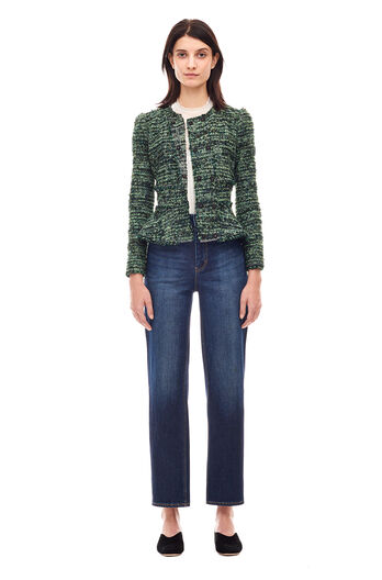 Textured Tweed Jacket - Apple Combo