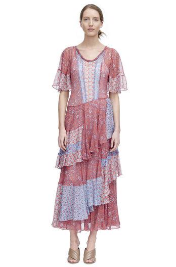 Short Sleeve Amanda Print Dress