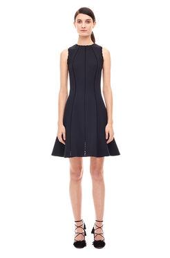 Diamond Texture Dress - Black