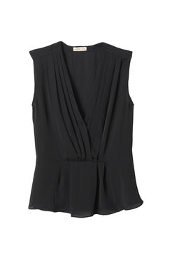 Sleeveless Georgette Wrap Top