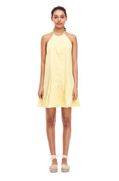 Cotton Tank Dress - Citron