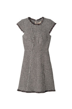 Structured Tweed Dress