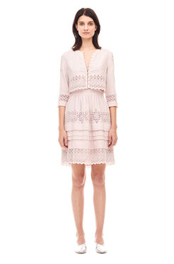 Adeline Embroidered Dress - Rosebud