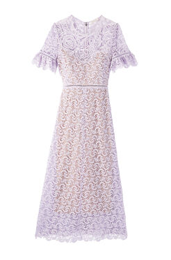 Eliza Lace Midi Dress