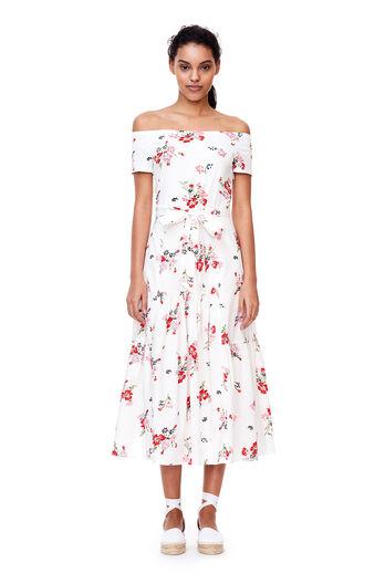 Off-The-Shoulder Marguerite Jersey Dress - Snow