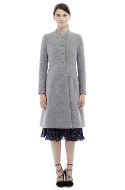 Wool Chain Coat - Grey Melange