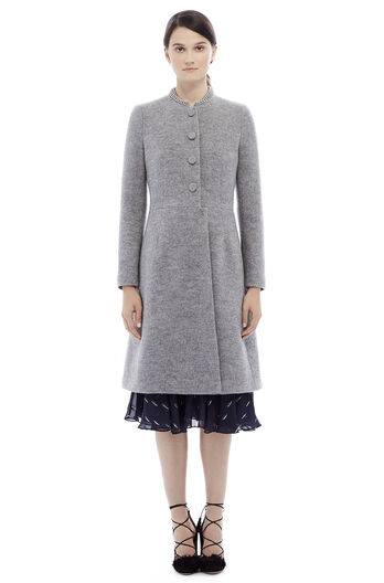 Wool Chain Coat - Grey Melange