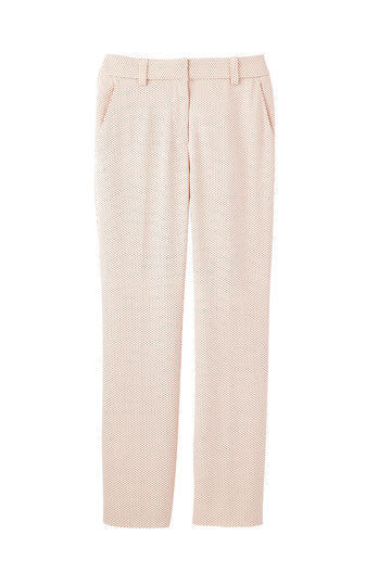 Pindot Straight Pant