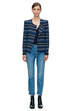 Variegated Tweed Jacket - Blue