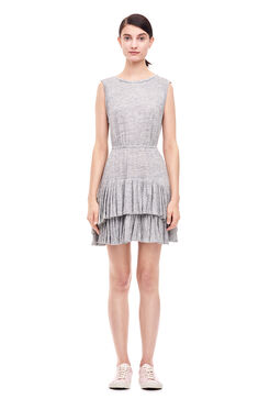 Linen Jersey Dress - Grey Melange