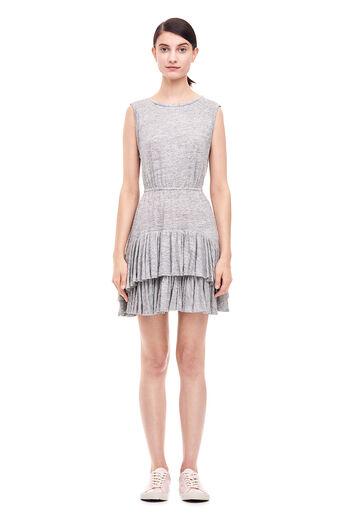 Linen Jersey Dress - Grey Melange