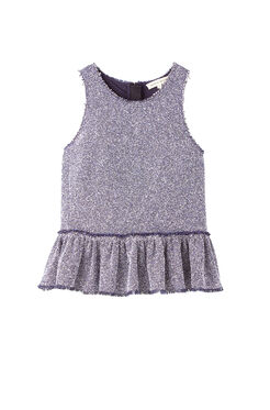 Stretch Tweed Peplum Top