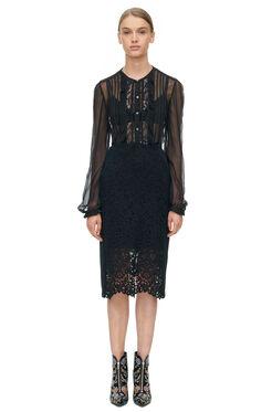 Vien Lace Skirt - Black