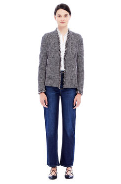 Houndstooth Jacket - Teaberry Combo
