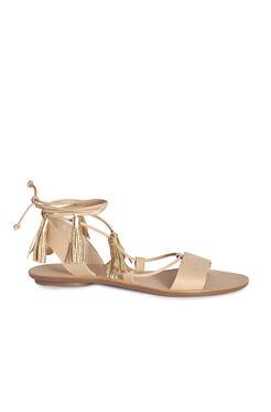 Loefller Randall Saffron Tassel Sandal - Wheat Gold