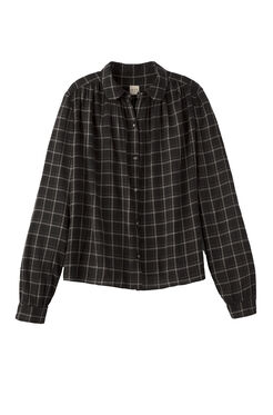La Vie Windowpane Plaid Top