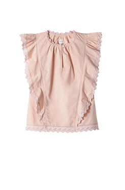 La Vie Poplin Lace Top