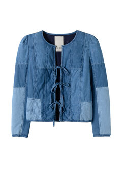 La Vie Indigo Chambray Jacket