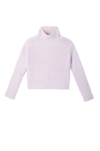 La Vie Ribbed Turtleneck Pullover